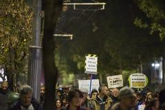 Protest in Boekarest - 05 November 2017 Royalty-vrije Stock Afbeelding