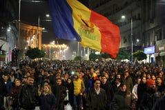 Protest in Boekarest, Roemenië Stock Fotografie