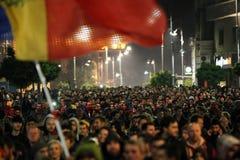 Protest in Boekarest, Roemenië Royalty-vrije Stock Afbeelding