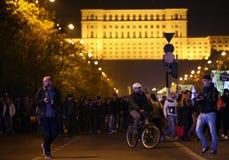 Protest in Boekarest, Roemenië royalty-vrije stock foto's