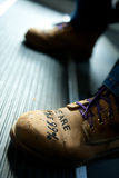 Protest Boots. We Are the 99%, Occupy Wall Street royalty free stock photo