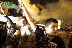 Protest in Brasilien Lizenzfreies Stockbild