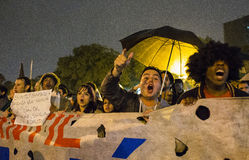 Protest in Brasilien Lizenzfreie Stockfotografie