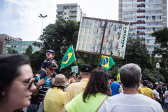 Protest in Brazil. For the impeachment of the president Royalty Free Stock Images