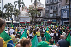 Protest in Brazil. For the impeachment of the president Stock Images