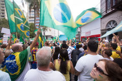 Protest in Brazil. For the impeachment of the president Royalty Free Stock Image