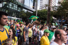 Protest in Brazil. For the impeachment of the president Royalty Free Stock Photo