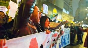 Protest in Brazilië Stock Afbeelding