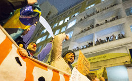 Protest in Brazilië Royalty-vrije Stock Afbeelding