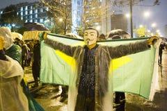 Protest in Brazilië Stock Afbeeldingen