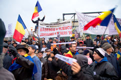 Protest in Bucharest Royalty Free Stock Photos