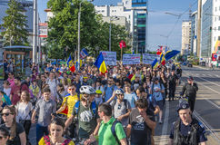 Protest in Bucharest against illegal logging Stock Photography