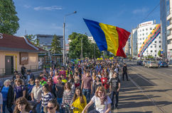 Protest in Bucharest against illegal logging Royalty Free Stock Images