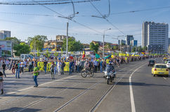 Protest in Bucharest against illegal logging Stock Images