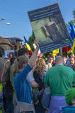 Protest in Bucharest against illegal logging Royalty Free Stock Photo