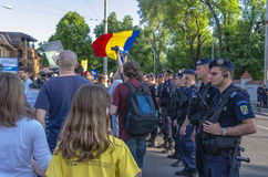 Protest in Bucharest against illegal logging Royalty Free Stock Photos