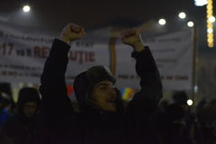 Protest in Bucharest Stock Images
