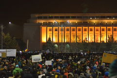 Protest in Bucharest Stock Photos