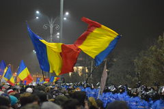 Protest in Bucharest Royalty Free Stock Photo
