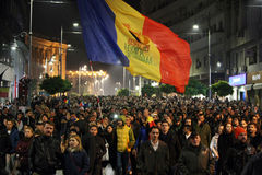 Protest in Bucharest, Romania Stock Photography