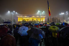 Protest in Bucharest, Romania Royalty Free Stock Photo