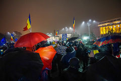 Protest in Bucharest, Romania Royalty Free Stock Photos
