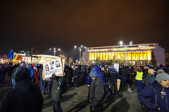 Protest in Bucharest, Romania Stock Photo