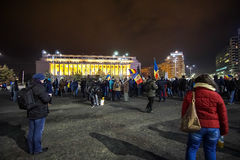 Protest in Bucharest, Romania Royalty Free Stock Photography