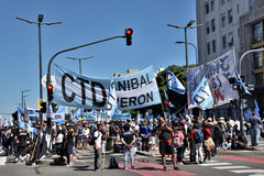 Protest in Buenos Aires, Argentina Stock Photos