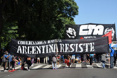 Protest in Buenos Aires, Argentina Stock Image