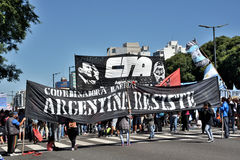 Protest in Buenos Aires, Argentina Royalty Free Stock Photo