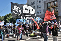 Protest in Buenos Aires, Argentina Stock Photography
