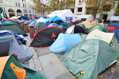 Protest camp Royalty Free Stock Photography