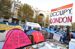 Protest camp Royalty Free Stock Photos