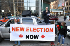 Protest of Canadian election fraud Stock Image