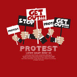 Protest. Protest Concept Illustration Vector.EPS10 stock illustration