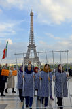 Protest concerning abusive imprisonment in Iran. PARIS FRANCE OCTOBER 12: Protest concerning abusive imprisonment in Iran. On october 12 2013 in Paris France Stock Images