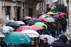 Protest Day and the umbrella Stock Photography