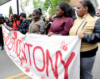Protest Demanding Justice for Tony Robinson Royalty Free Stock Image