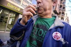 Protest der politischen Korruption in Spanien Lizenzfreies Stockbild