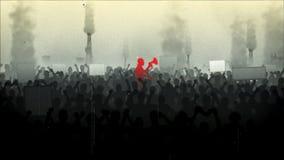 Protest in der Stadt Retro- Art stock abbildung