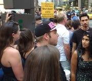Protest des weißen Vorherrschafts, NYC, NY, USA Lizenzfreies Stockfoto
