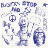 Protest doodle Stock Images