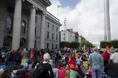 Protest in Dublin, Ireland. Royalty Free Stock Photography