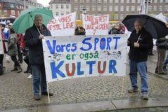 PROTEST DURCH PFERDEsport Stockbilder