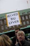 PROTEST DURCH PFERDEsport Stockfotografie
