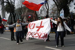 Protest education in Chile in August 2011 Stock Image