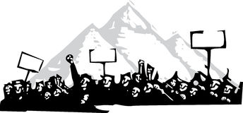 Protest in Egypt vector illustration