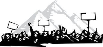 Protest in Egypte vector illustratie