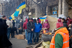 Protest on Euromaydan in Kiev against the president Yanukovych Royalty Free Stock Image